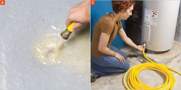 fylla på vatten i varmvattenberedaren