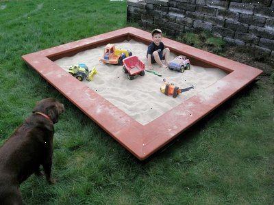 hur mycket sand behövs till en sandlåda