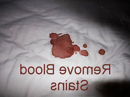 ta bort blodfläckar på madrass